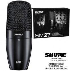 SHURE SM27 舒爾 PODCAST 直播 練團室 錄音室 錄音 廣播 人聲 電容式 麥克風
