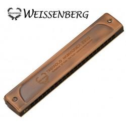 WEISSENBERG 2203-RD 韋笙堡 22孔複音口琴(專業款紅古銅)