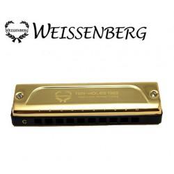 WEISSENBERG 1002-GL 高級款 韋笙堡1002GL藍調口琴-尊貴金