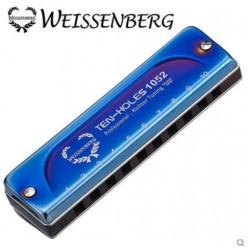 WEISSENBERG 1052-BL/FV 專業款10孔玫瑰木1052-BL/FV藍調口琴