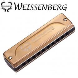 WEISSENBERG 1053-RG 韋笙堡1053RG10孔藍調口琴-玫瑰金專業款